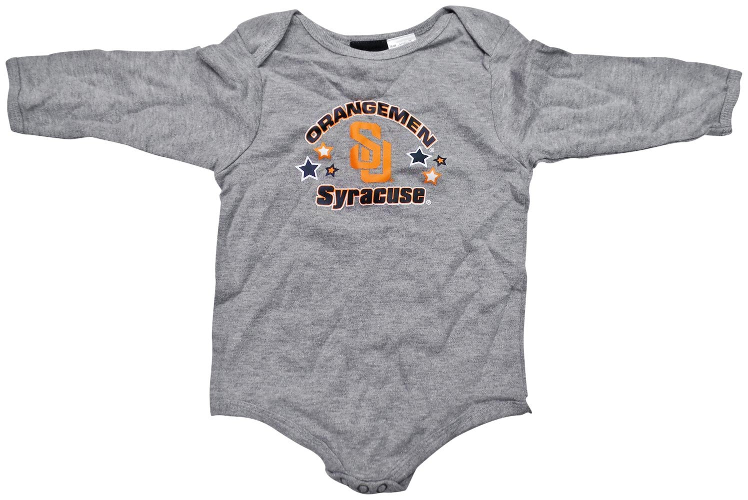 aafd9c9785f Amazon.com : Syracuse Orangemen Grey Infant/Baby Long Sleeve Onesie :  Sports & Outdoors