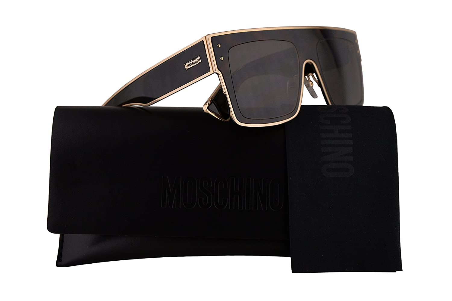 Amazon.com: Moschino MOS001/S Sunglasses Dark Havana w/Grey ...