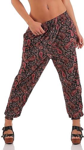 malito Pantalones Anchos Pantalón de Jogging en el Oriente estilo XB-7723 Mujer
