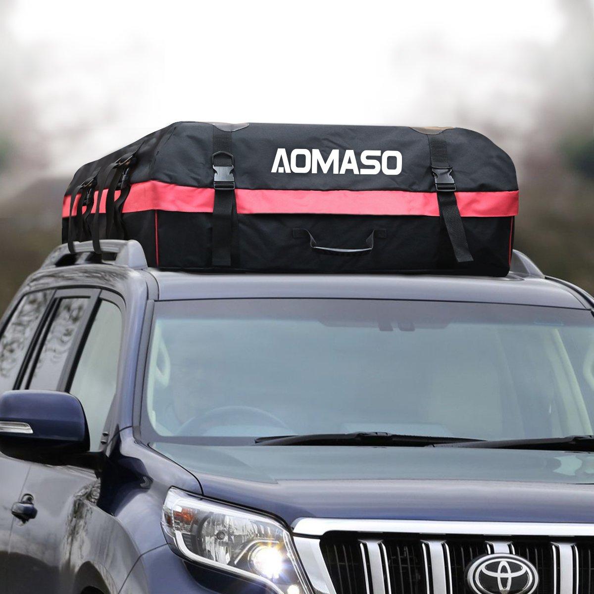 Portaequipaje Impermeable para Techo de Automóvil Aomaso, Caja de Almacenamiento (10 Pies Cúbicos)