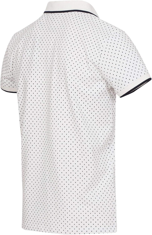 TOM TAILOR Denim Herren AOP Polo T-Shirt