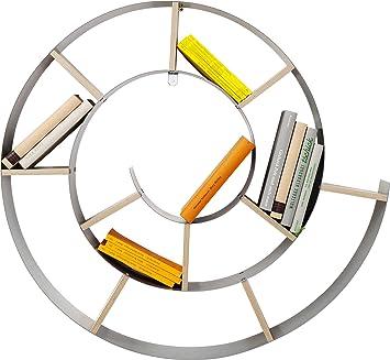Libreria A Parete Prezzi.Kare Snail Libreria Da Parete Argento 75 X 75 X 15 Cm