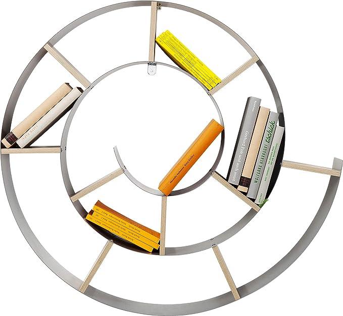 51 opinioni per KARE, Snail, Libreria Da Parete, Argento, 75 x 75 x 15 cm