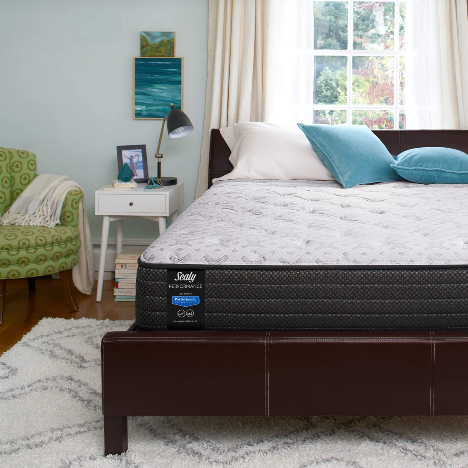 Sealy 13-Inch Plush Eurotop Mattress, King, Made in USA, 10 Year Warranty by Sealy