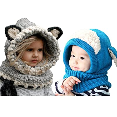 b537003837b 2 PCS Kids Hat Winter Warmer