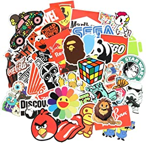 FNGEEN 6 Series Cool Laptop Stickers Pack 100 pcs Stickers Bomb Variety for Adults Teens Graffiti Vinyl Decal for Skateboard Computer Motorcycle Bicycle Luggage (A)
