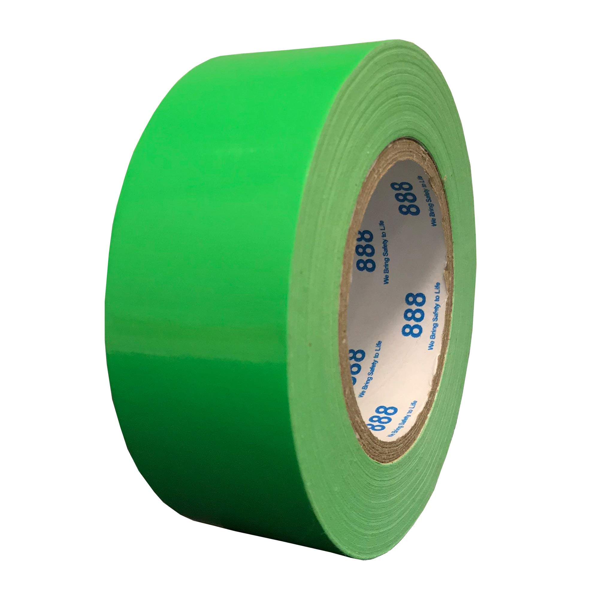 MG888 Hi-Vis Fluorescent Green Duct Tape 1.88 Inches x 60 Yards, High Visibility, Duct Tape for Crafts, DIY, Repairs, Indoor Outdoor Use, Book Repair, Must Have Garage Tool