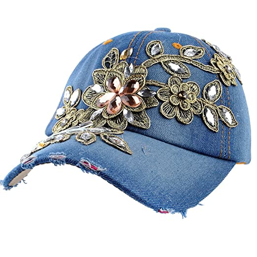 526ea9e771d Image Unavailable. Image not available for. Color  Elonmo Bling Hats