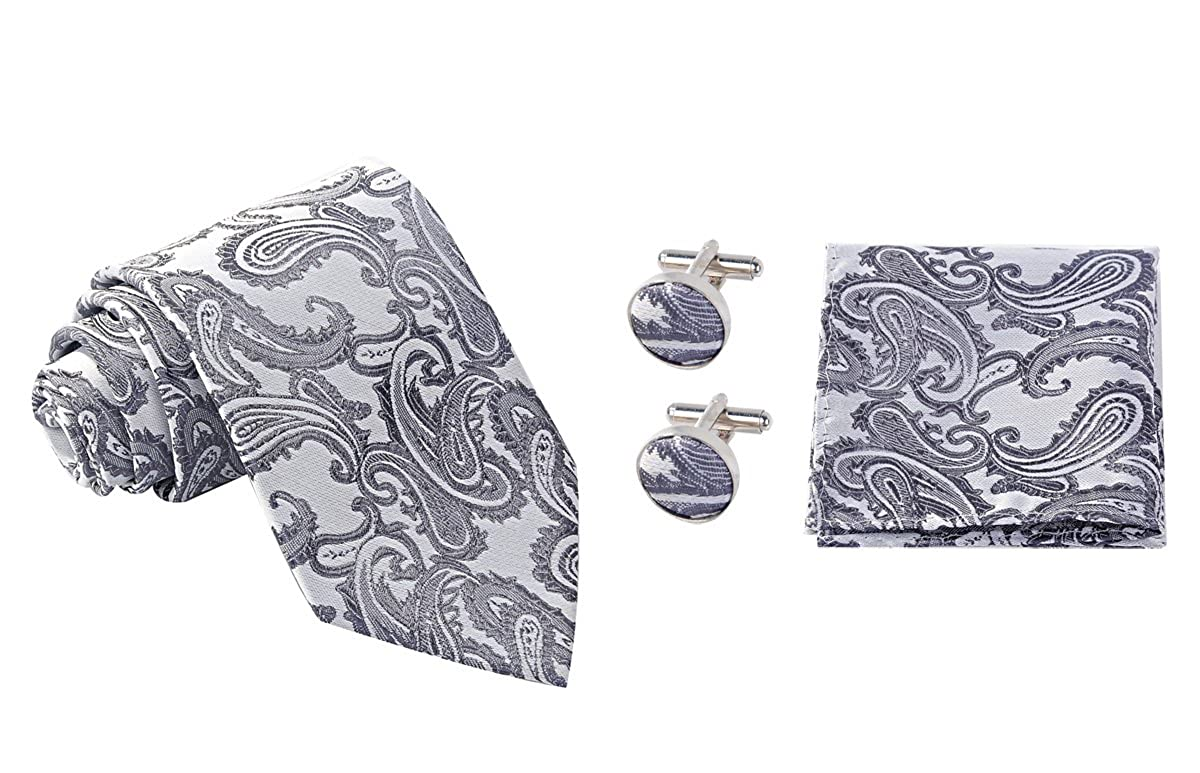 Hombres Coxeer Paisley Prom corbata pañuelo Establece: bolsillo ...