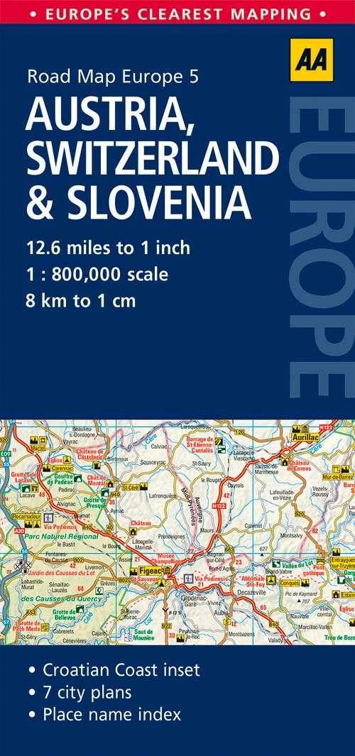 Road Map Austria, Switzerland & Slovenia (Road Map Europe ...