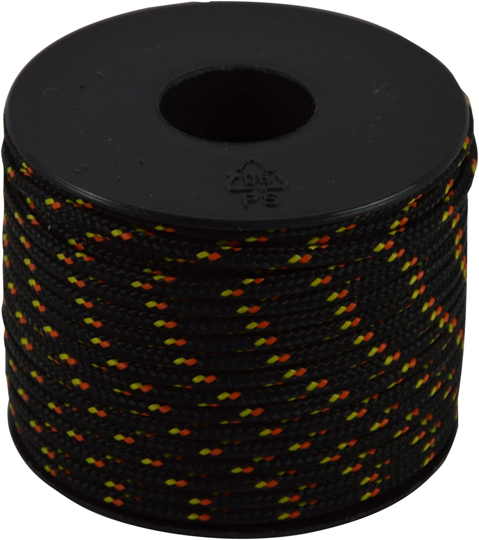 2.5 mm 25 m Black Corderie Italiane 006038245 Hobby Fantasy Coloured Cord