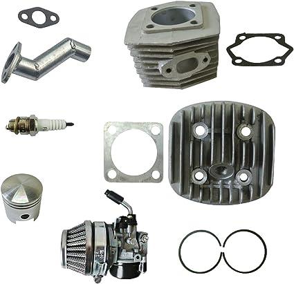 Cabeza de cilindro y cilindro & carburador compatible con 66/80cc ...