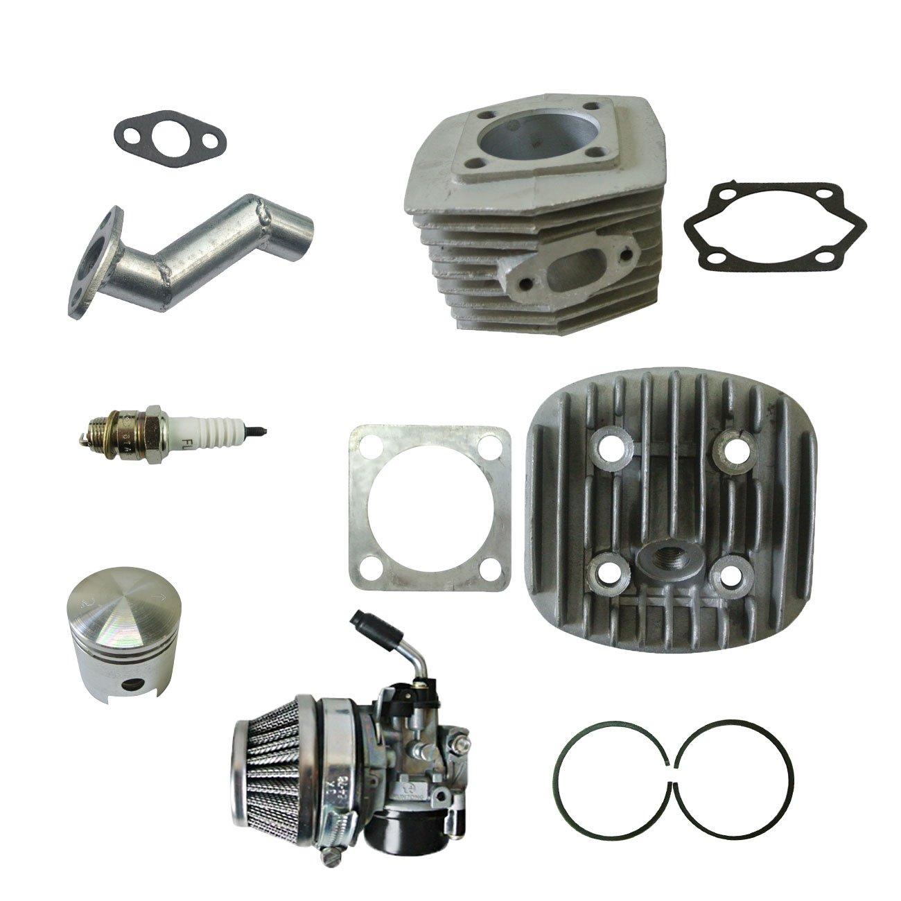 CNC Black Cylinder Head/&Cylinder/&Piston FIT 80cc Motorized Bicycle