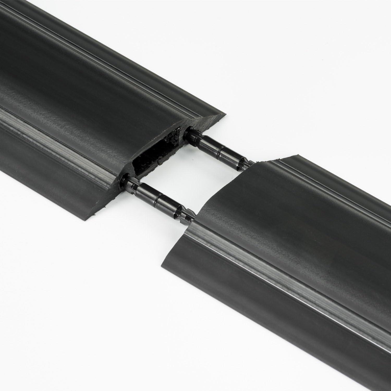 D-Line Passe Câble Sol Souple FC10B Passage Plancher Souple  Goulotte de  Sol  Prévient les Accidents au Travail  Liégeable  Cavité du Câble