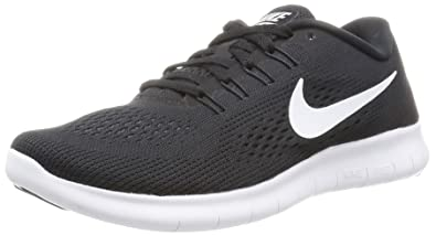 nike free black and grey running shoe