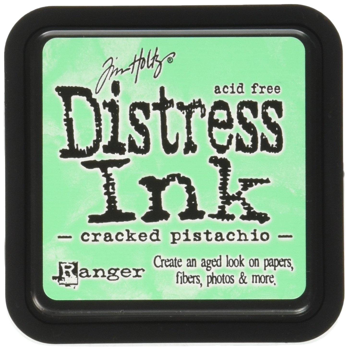 Ranger Tim Holtz Tampone di Inchiostro Distress, Plastica, Pistacchio Cracked, 7.5x7.5x52 cm DIS-43218