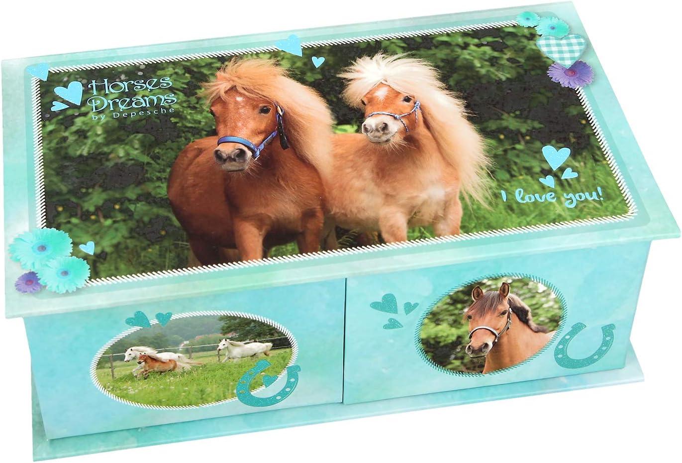 NEW HORSES DREAMS HORSES DREAMS JEWELLERY BOX BLUE