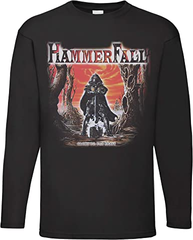 LaMAGLIERIA Camiseta de Manga Larga Hombre Hammerfall Glory To The ...