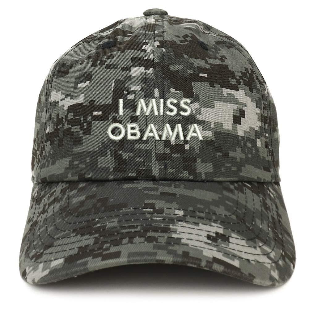 Trendy Apparel Shop I Miss Obama Embroidered Brushed Cotton Dad Hat Cap TXT1657-SAN-CP77-BLK