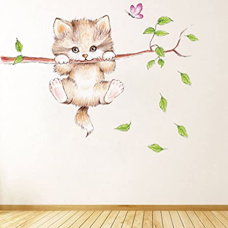 Amazon Com Dragon Honor Lovely Cat Wall Sticker Mural Painting Cartoon Kitty Tree Branches Wall Decals Home Kitchen Find & download free graphic resources for trees cartoon. dragon honor lovely cat wall sticker mural painting cartoon kitty tree branches wall decals
