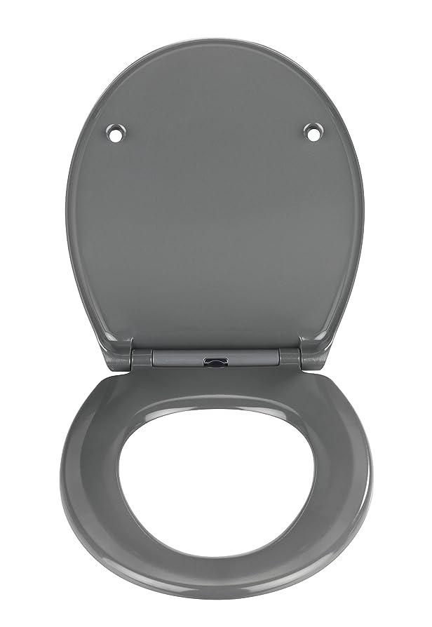 dark grey toilet seat.  Wenko Samos Toilet Seat Dark Grey Amazon co uk Kitchen Home