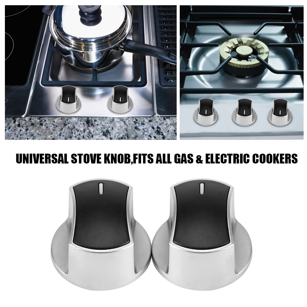 Amazon.com: Universal Gas Stove Knobs Cooker Part Control Replacement Metal Rotary Switch 2 Pcs: Home Improvement