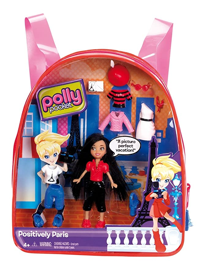 Amazon.com: Polly Pocket Positively Paris Crissy Travel Backpack: Toys & Games