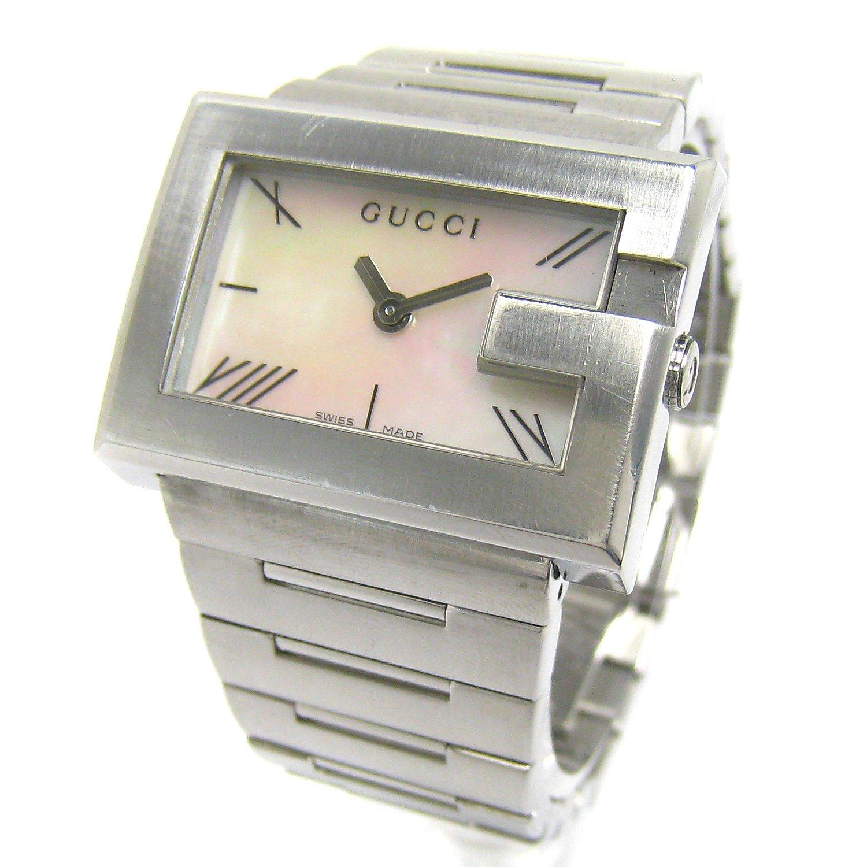 [グッチ]GUCCI 腕時計 YA100L Gレクタングル シェル文字盤 クリーニング済 レディース 中古 B07CPQL118