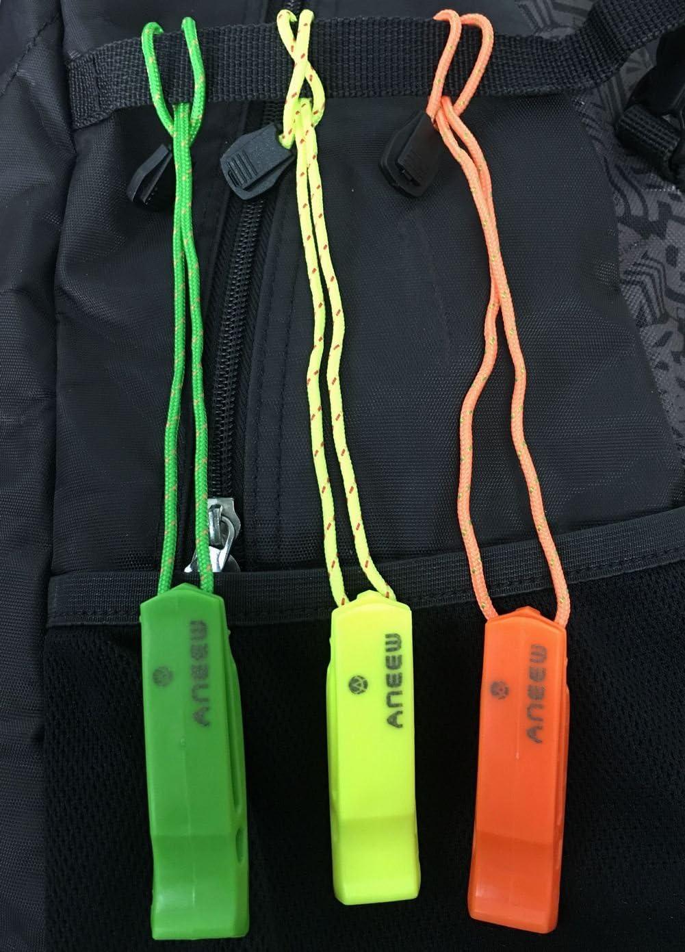 Silbato de seguridad tubo de doble alto todo tipo de clima para al aire libre senderismo camping Escalada Paseos en bote con cord/ón por aneew supervivencia de emergencia uso