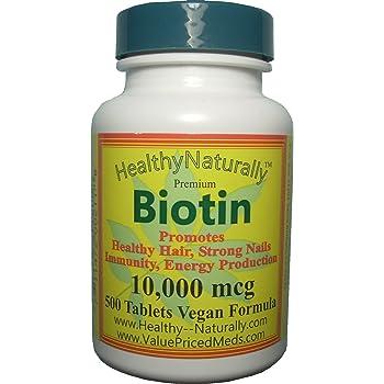 Amazon.com: Biotin 500 tablets,10,000 mcg, for hair growth ...