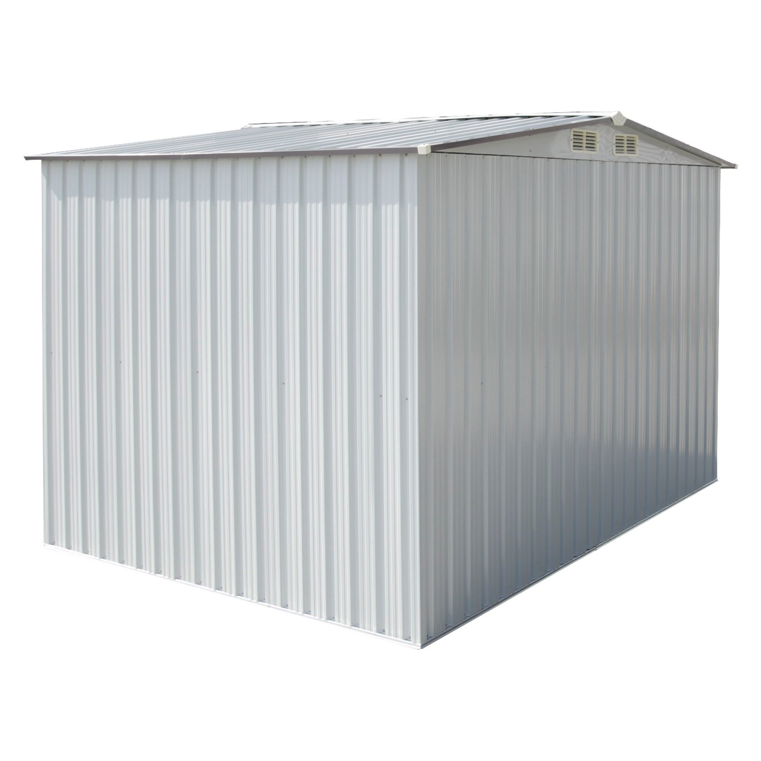 Kinbor New 8' x 6' Outdoor White Steel Garden Storage Utility Tool Shed Backyard Lawn Building Garage w/Sliding Door by Kinbor (Image #7)