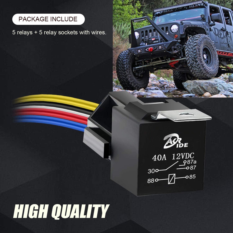 5 unidades Automotive Juego de 5 pines, 30/40 A Bosch estilo relé ...