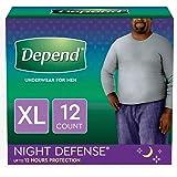 Depends Mens Overnight Underwear Extra Large