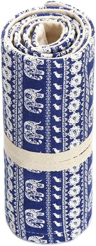 Atelier Ou Bureau 36 Trous /Étui Rouleau Brod/é Trousse /À Crayons en Toile Katara 1786 Plumier Enroulable Pour /École Style Broderie DInde