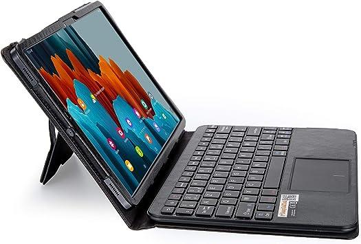 SonnyGoldTech MQ-Power - Funda con teclado Bluetooth para Samsung Galaxy Tab S7 de 11 pulgadas, diseño francés