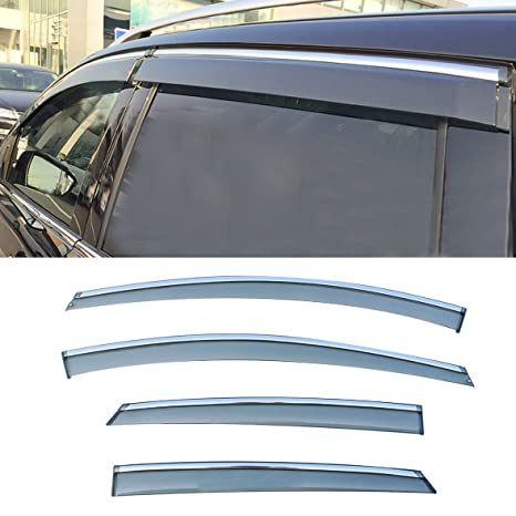 Amazon.com  Audrfi 4pcs Chrome Trim Window Deflectors Window Visor for  12-16 ford Focus Sun Rain Guard Vent Visors  Automotive 336c5479a40