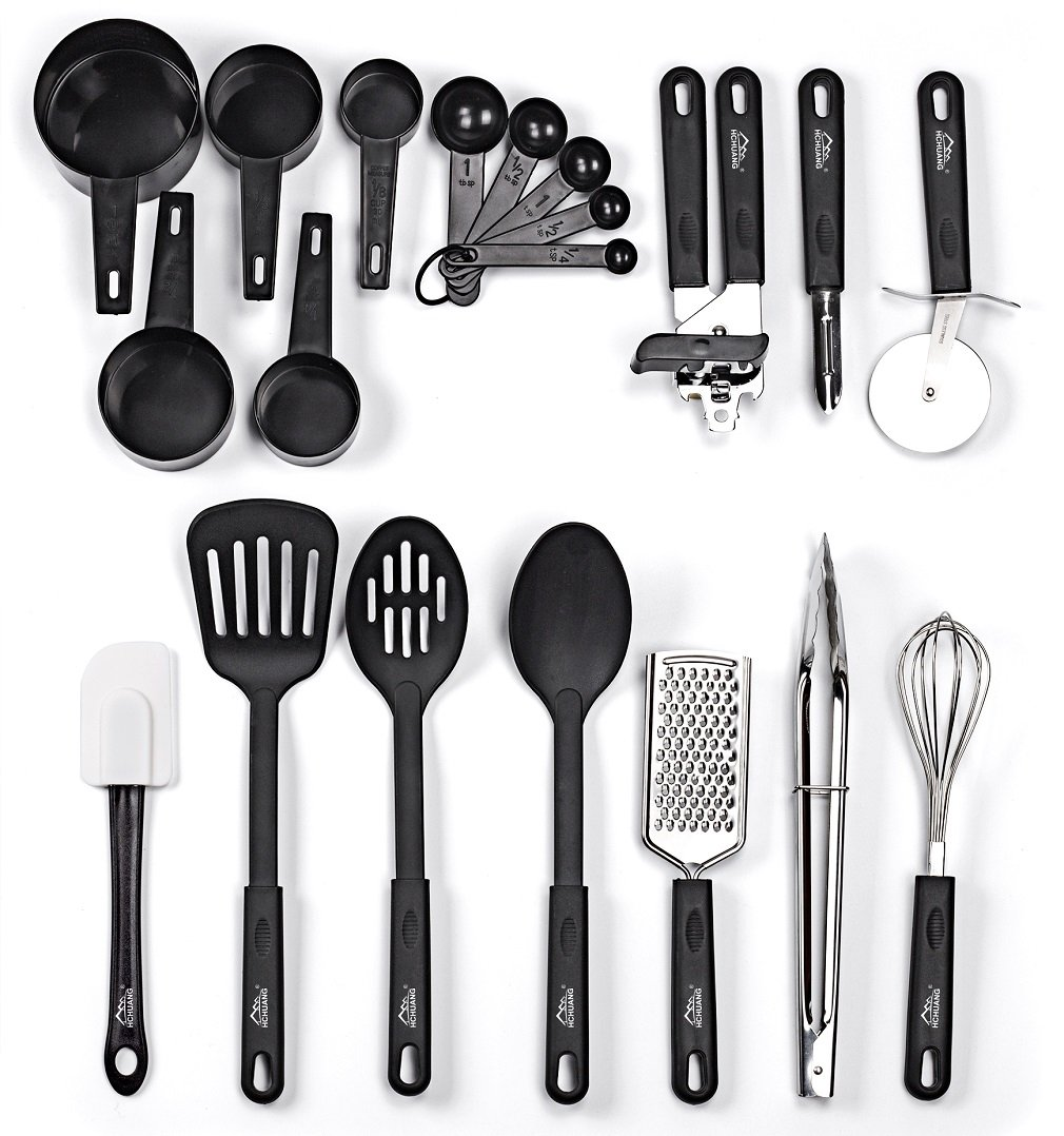 20 Piece Kitchen Utensil Set Stainless Steel Cooking
