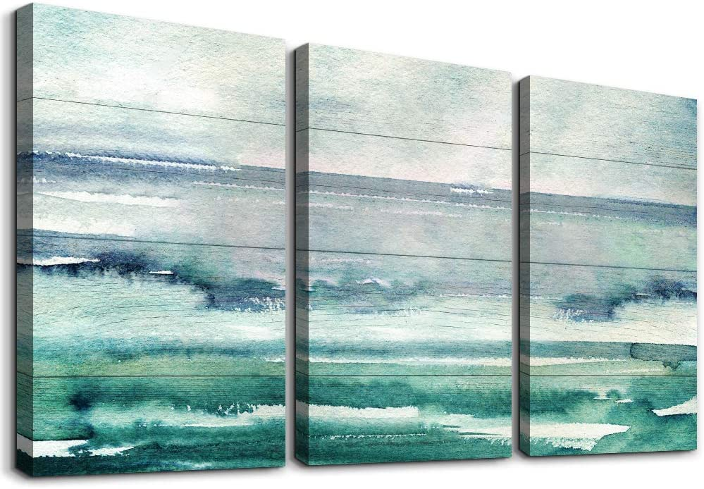 3 piece Framed Canvas Wall Art for Living Room family bathroom Wall decor modern kitchen Abstract painting farmhouse Bedroom Decoration inspiration Blue abstract canvas pictures Artwork for home walls