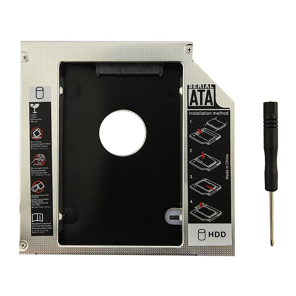 WoneNice NEW SATA 2nd HDD caddy for 9.5mm Universal CD/DVD-ROM ACER BENQ HP DELL ASUS