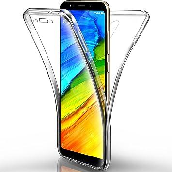 Aroyi Carcasa XiaoMi Redmi 5 Plus – Funda, Transparente Silicona Gel Case Completo 360 degres Full Body Protección antiarañazos Carcasa Funda para ...