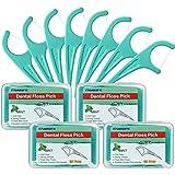 Mint Dental Floss Pick Threader Flosser with 4 Travel Cases , 240 Picks, FAMILIFE