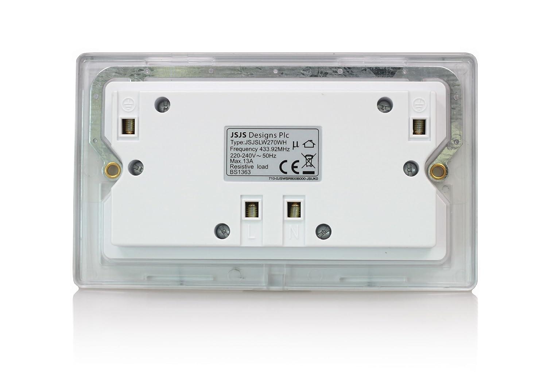 Lightwave 2 Gang 13a Socket White Lightwaverf Diy Uk Plugs Bs1363 Plug Old Colour Wiring How To Wire A Tools