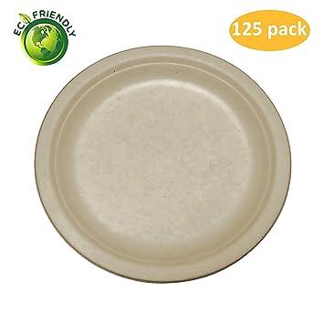 Greenpeak Disposable Plates Set (125 Pack) Dinner, Appetizers, Desserts |  Large