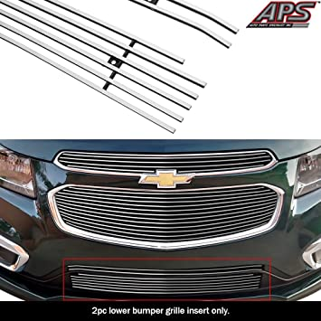 2015 Chevy Cruze Chrome Grille Overlay 2 pc Front Full Grill Inserts Trim Covers
