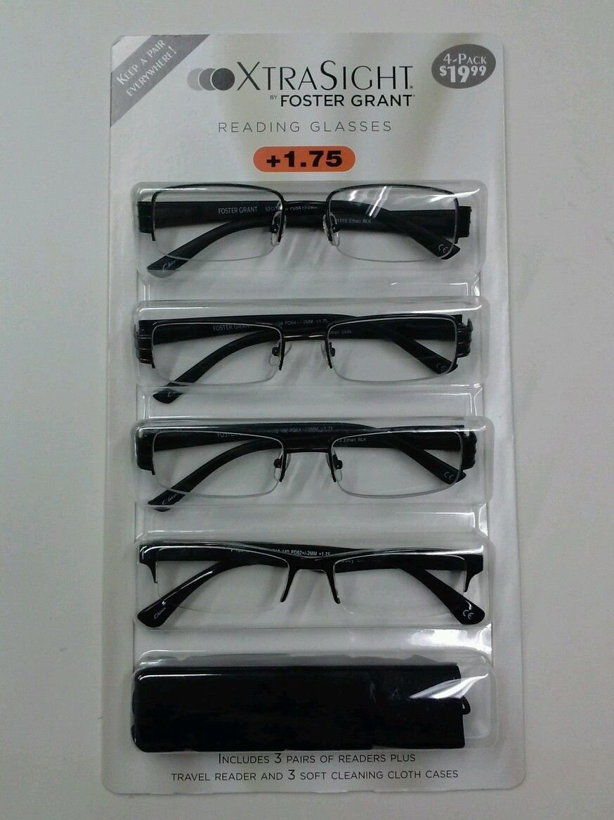 5539bfd390ff Foster Grant Rimless Reading Glasses 1 75 « One More Soul