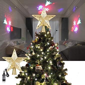 ALLOMN Iluminación Navideña, Adorno de árbol de Navidad Proyector ...