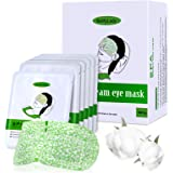 16 Packs Eye Masks for Dark Circles and Puffiness Disposable Soothing Headache Relief Dry Eyes, Stress Relief Relief Eye Fati