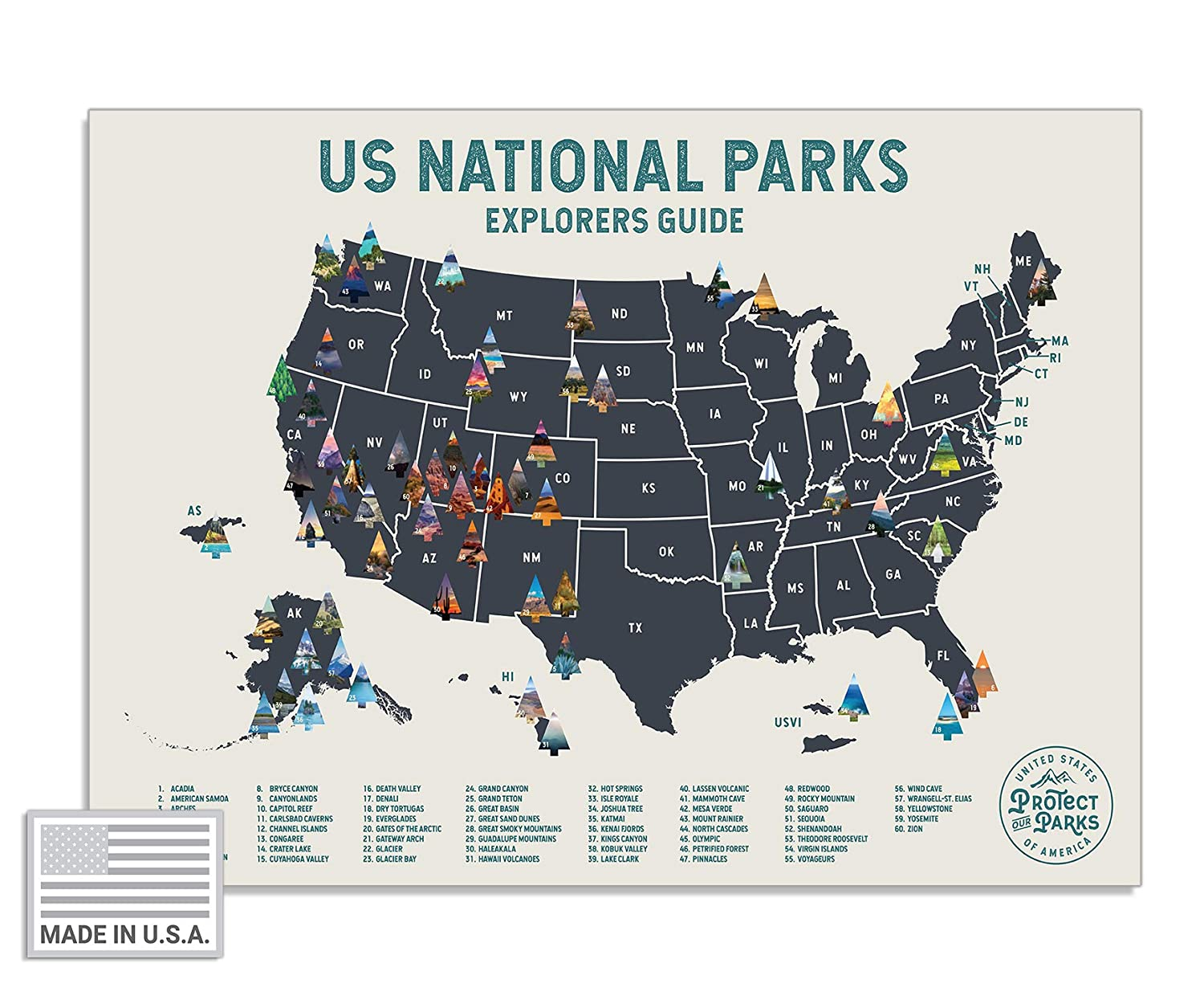 """USA National Park Scratch Off Map (24"""" x 17"""") - Interactive Educational on wtc site map, new orleans zip code map, guangzhou china map, liberty state park map, lockerbie bombing map, pearl harbor attack map, brunswick ga map, larimer county road map, battle of stalingrad map, halloween map, chinatown nyc walking map, saigon vietnam map, pearl river delta map, white house washington dc map, mall of america map, new wtc map, operation iraqi freedom map,"""