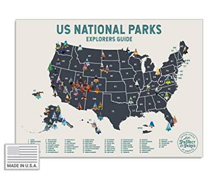 Amazon De Poster Zum Abkratzen Der Usa Nationalparks 61 X 43 Cm