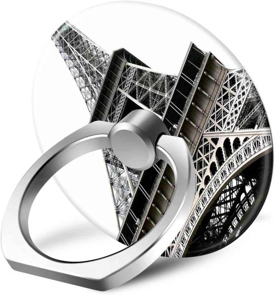 Black And White Retro Eiffel Tower Photo Pattern SunbirdsEast Functional Creative Phones /& iPad Expanding Stand Holder Grip Mounts